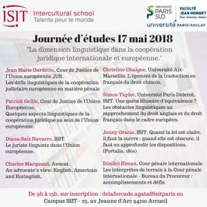 ISIT dimension linguistique juridique recherche