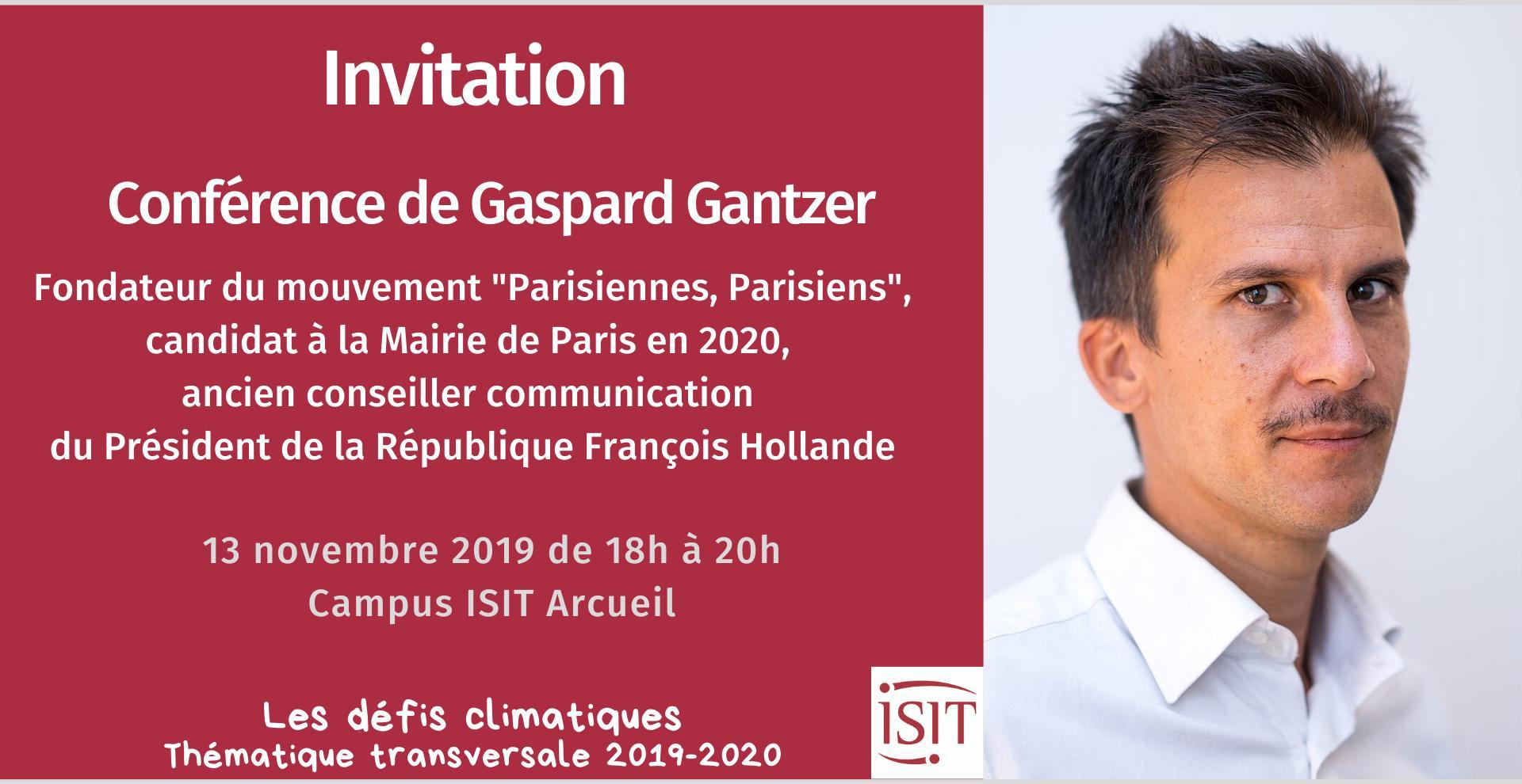 L'ISIT s'engage : conférence climat le 13 novembre