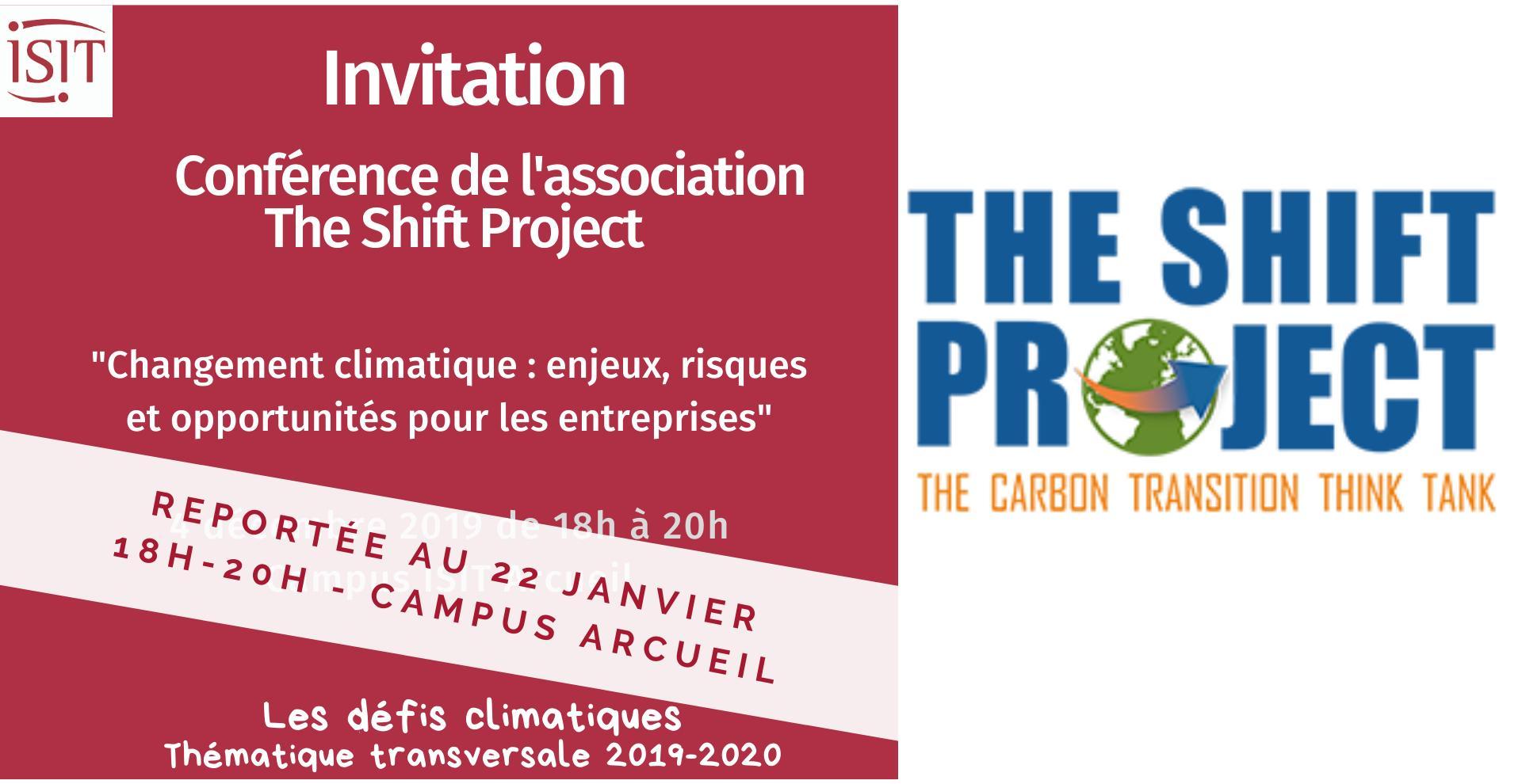 L'ISIT s'engage : 3ème conférence sur le climat