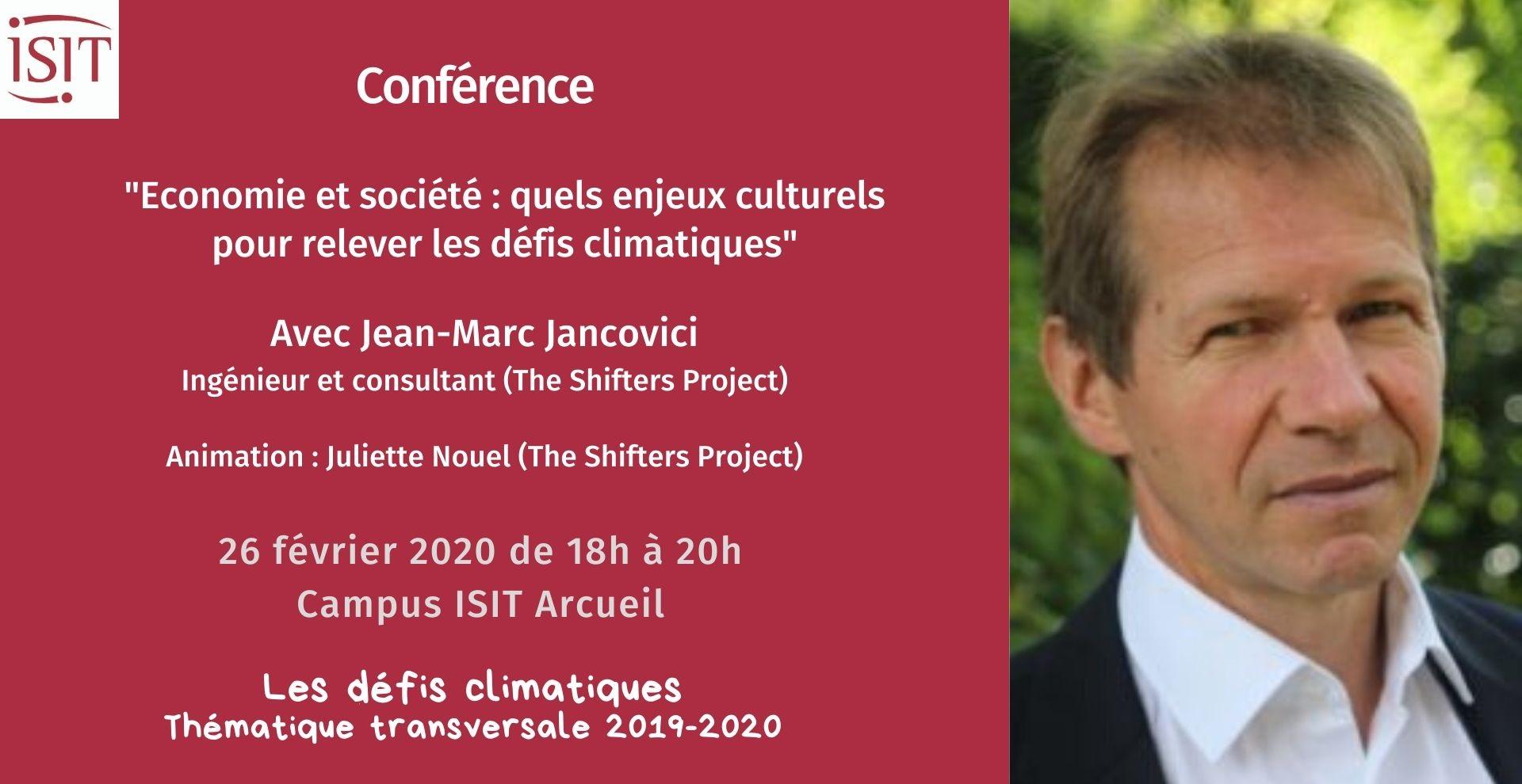 5è conférence climat avec Jean-Marc Jancovici