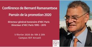 Le DG honoraire d'HEC Paris parrain de la promotion ISIT 2020
