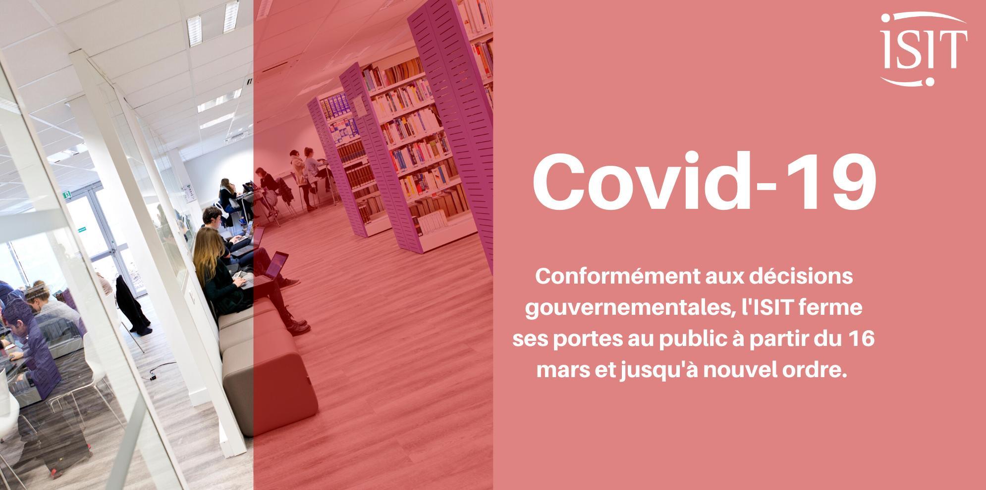 Covid-19 – Fermeture au public