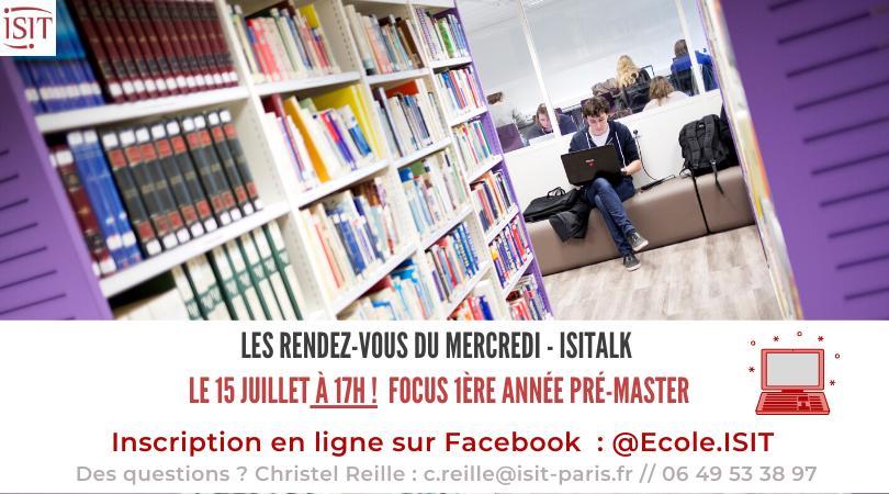 ISITalk n°9 – Facebook live orientation