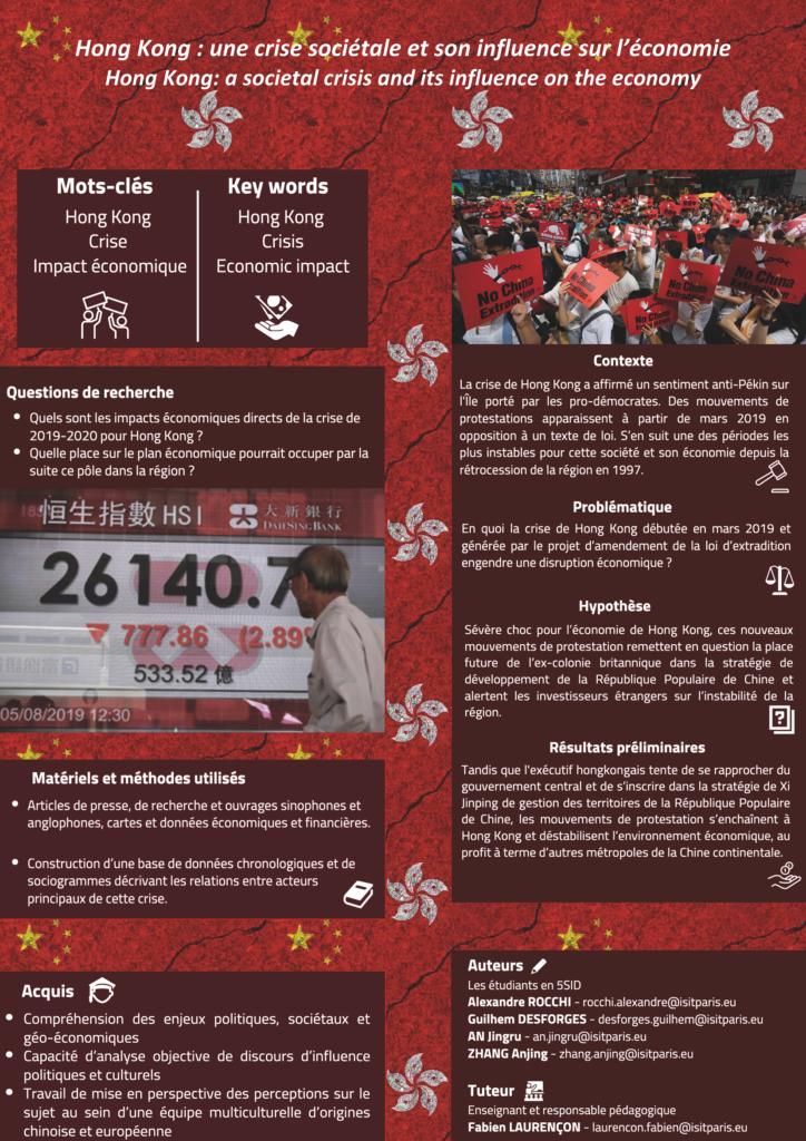 Poster recherche - Hong Kong