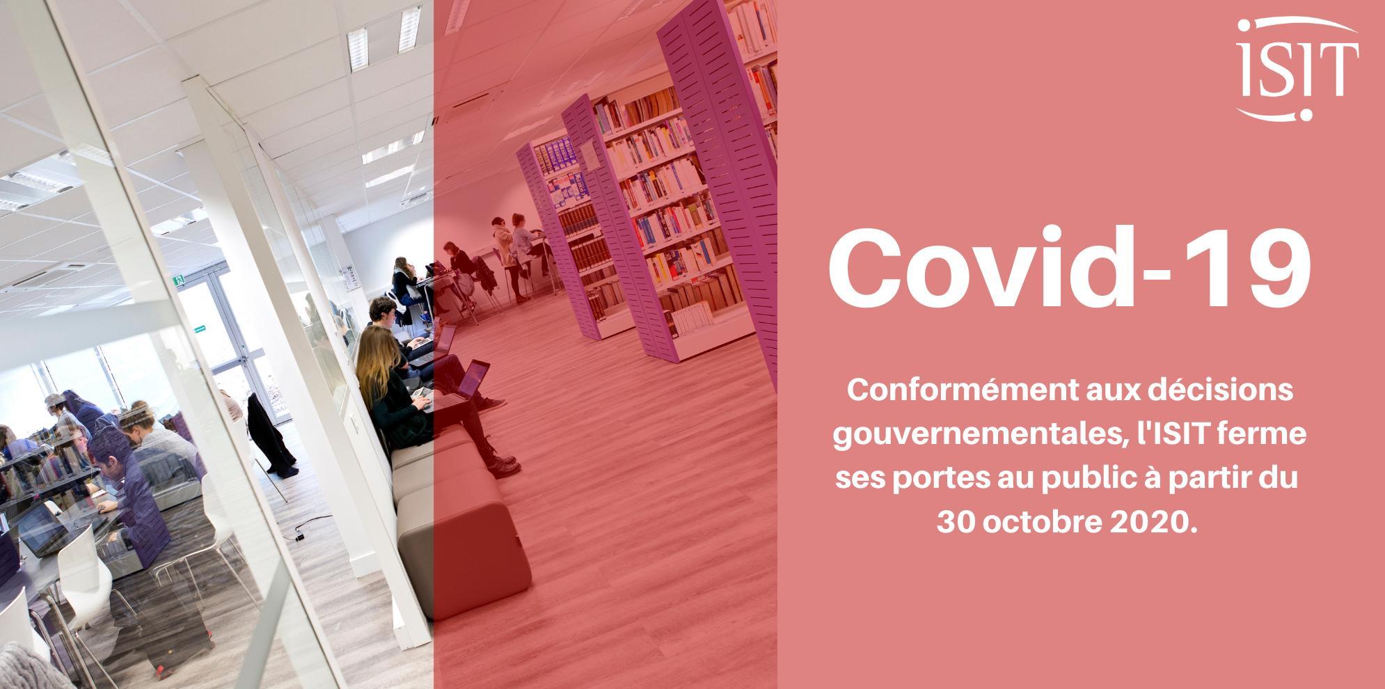 COVID 19- Fermeture au public