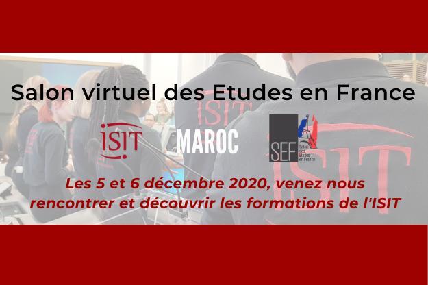 Salon des Etudes en France (SEF) Maroc – 5 et 6 décembre 2020