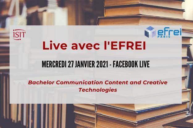 EFREI & ISIT Live – 27 janvier