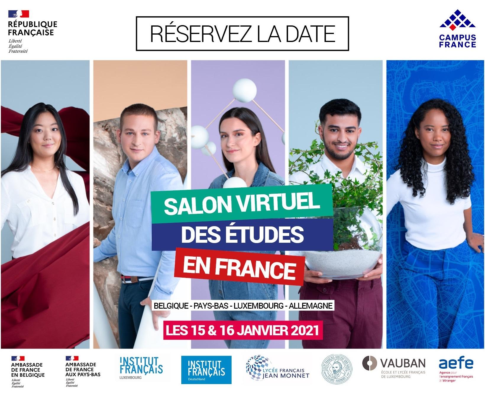 Salon virtuel Campus France Benelux – 15 et 16 janvier 2021