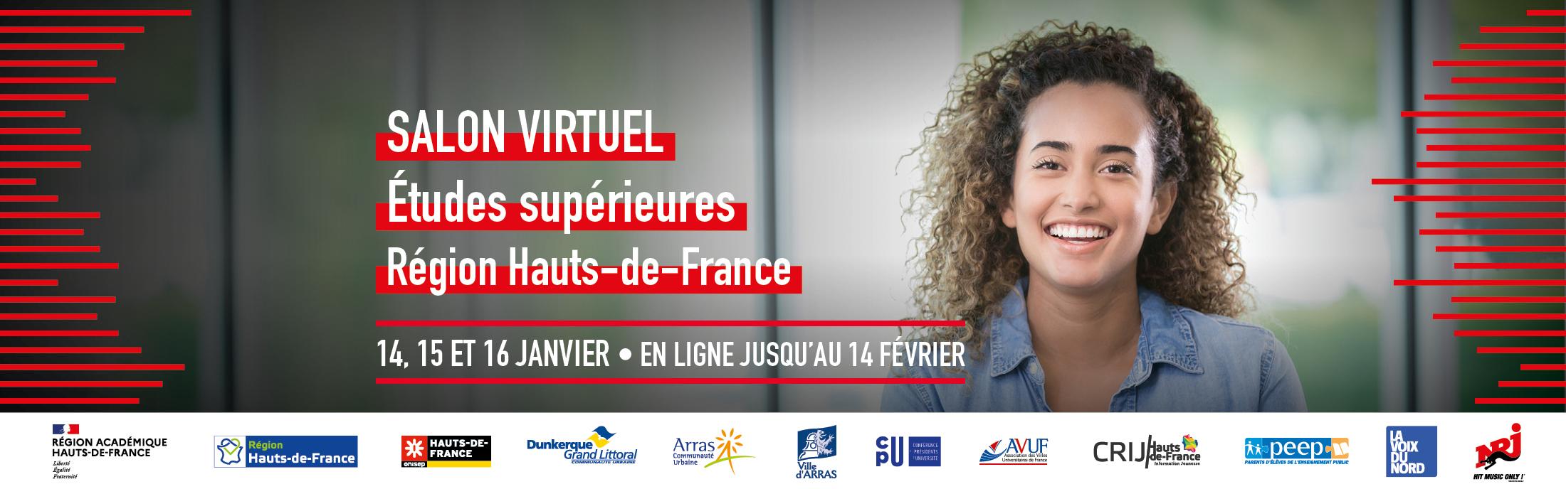 Salon virtuel des études supérieures – région Hauts-de-France – 14 au 16 janvier 2021