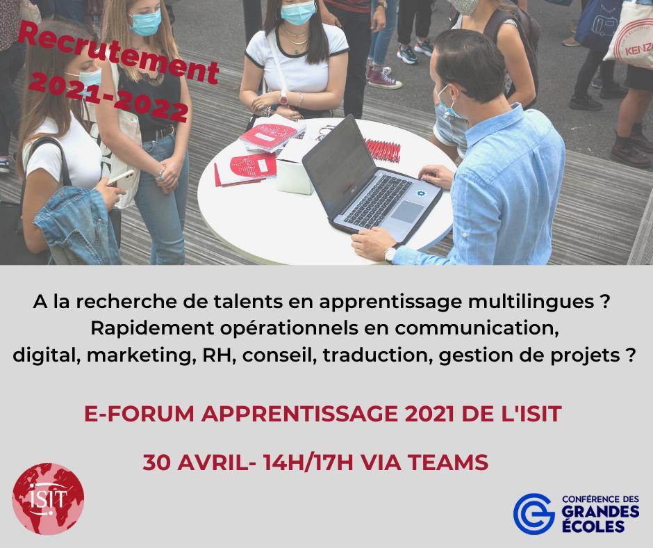 Forum ISIT apprentissage 2021