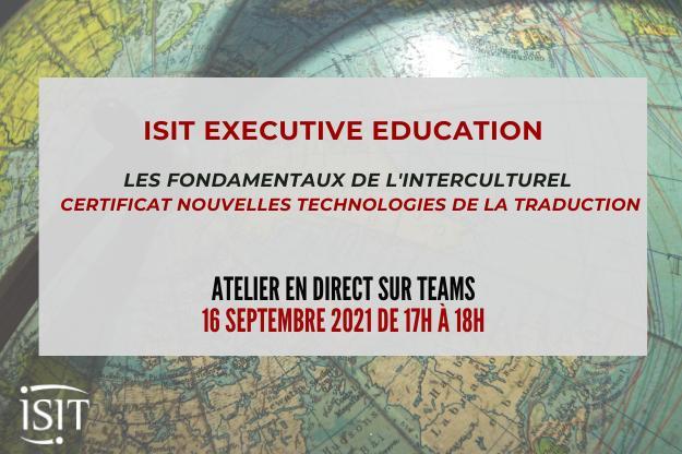 Formation continue : atelier sur le certificat Nouvelles technologies de la traduction