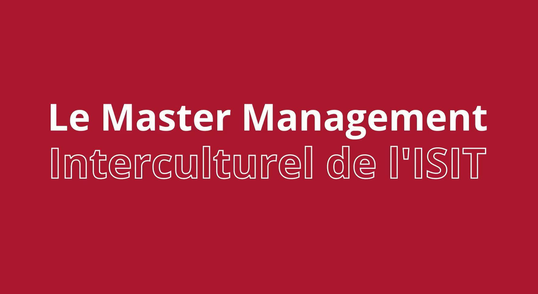 Découvrez le Master Management interculturel de l'ISIT